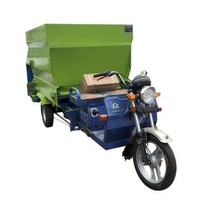 牛羊三轮撒料机 冬天易启动撒料车 环保节能电动投料机