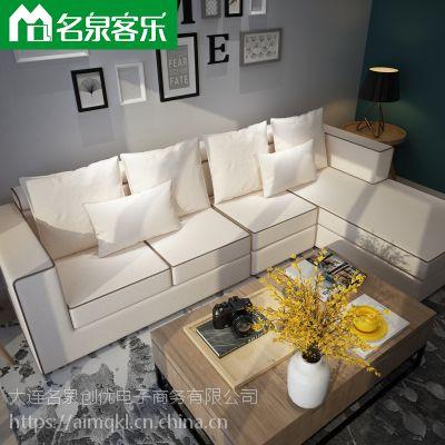 名泉客乐829-25组合沙发大连沙发软包家具