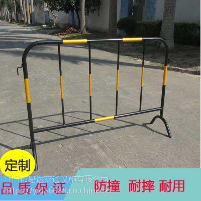 镀锌黄黑铁马护栏 园林绿化施工隔离护栏 持久耐用