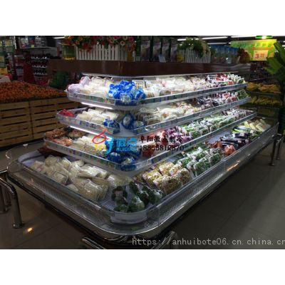 遂宁定做环形岛柜厂家 ,水果蔬菜保鲜环岛柜,徽点四面开放式风幕柜图片