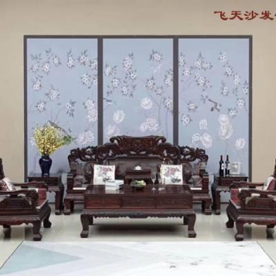 酸枝木沙发十一件套生产厂家-鼎远辰红木真材实料
