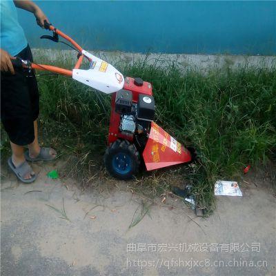 汽油手推式剪草机 大宽幅园林剪草机宏兴
