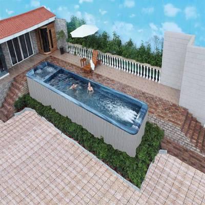 江苏南京奕华卫浴无尽游泳池10米endless pools家冲浪用亚克力室外户外泳池 一体化