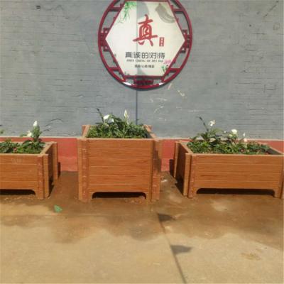 加工生产优质美观环境仿木水泥花箱花桶花盆