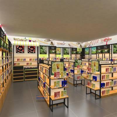 化妆品展示柜 化妆品展柜货柜货架制作 美容护肤品店柜子柜台背柜