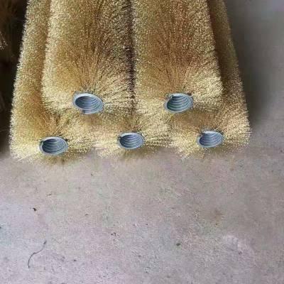 砖瓦厂清渣机钢丝刷辊筛网外绕弹簧刷砖机筛网防堵钢丝刷