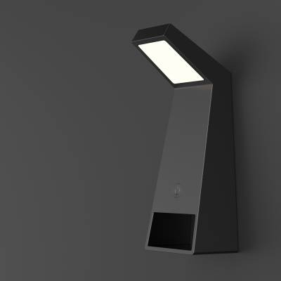 现代简约多功能充电台灯设计
