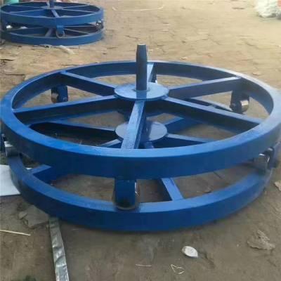 光缆槽钢电缆放线盘1.2米直径卧式放线架3吨光缆放线盘