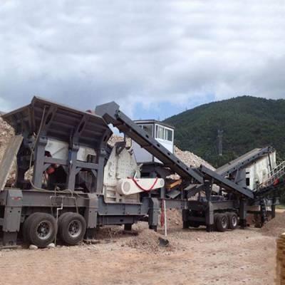 流动石子破碎机,车载石子机,移动碎石机,移动制砂机