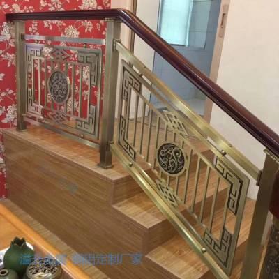 襄樊别墅铜楼梯护栏安装