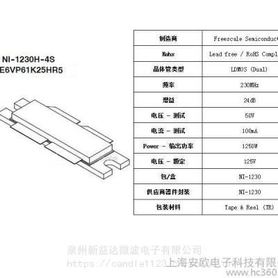 MRFE6VP61K25HR FREESCALE/飞思卡尔 原装正品 RF功放射频管