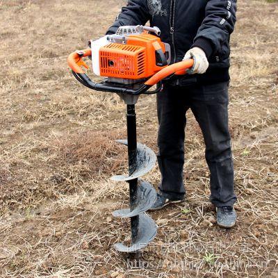 启航电线杆钻眼机 汽油四冲程打孔机 手推大直径挖坑机视频