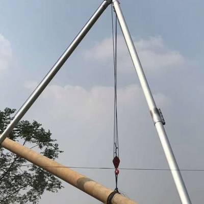 管式铝合金立杆器 三角抱杆厂家 山区电杆立杆机 博信达电力