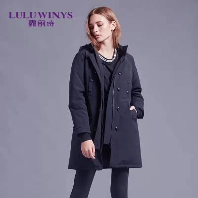 上海服装批发市场双面羊绒大衣高端北京品牌折扣女装货源走份批发