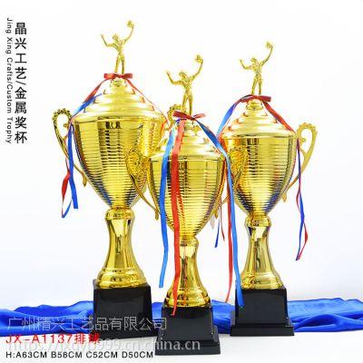 国际排球比赛冠军杯 学院联谊赛 厂家定做奖杯 金属奖杯 广州精兴厂家