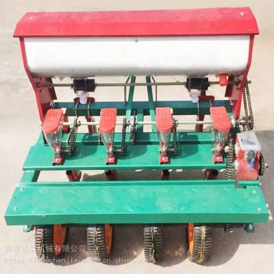 四轮车带播种施肥机 华晨高粱谷子播种机 HC-BZJ蔬菜精播机