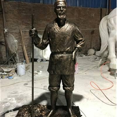 玻璃钢人物雕塑模型 公园仿铜人物雕塑