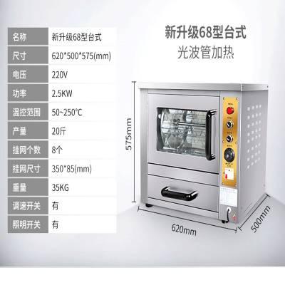 捷特68型台式电动烤玉米机_摆摊用自动旋转烤玉米机厂家价格
