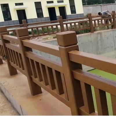 户外绿化庭院田园桥梁水泥防护栏 仿树皮河道栏杆