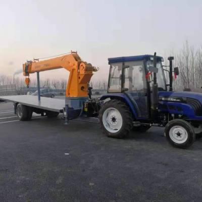 拖拉机配平板车什么价格 平板车带吊用途