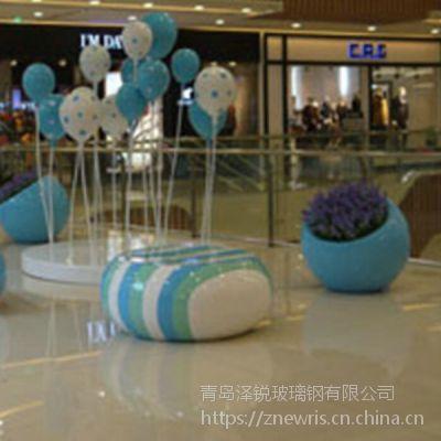 玻璃钢气球雕塑 商场中庭玻璃钢气球美陈