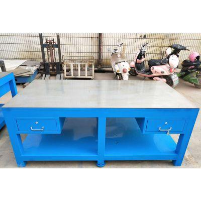 无锡重型挂板模具工作台规格,水磨台面钢板工作台利欣工厂定制