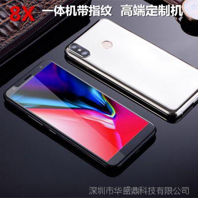 工厂直销 4G全网通 大内存 phone X智能大屏手机 带指纹一体定制