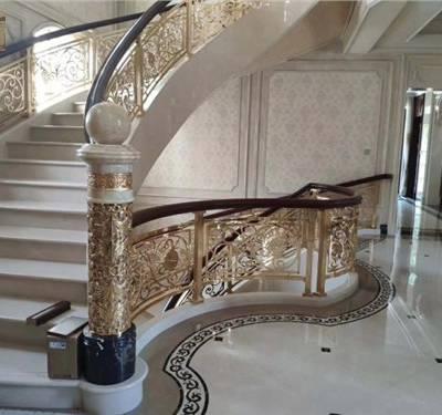北京镀金铜扶手便宜 上海普孜铜制品供应