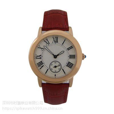 SPIKE手表工厂批发时尚新潮个性金属壳皮带手表