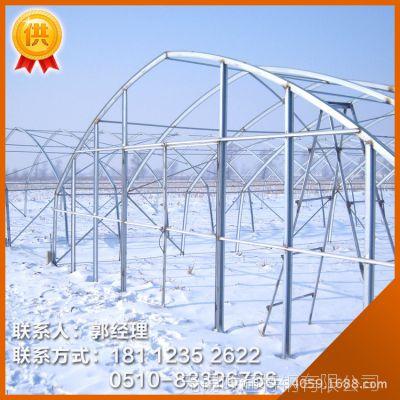 贵州大棚骨架 零售热镀锌钢管及全套连体葡萄大棚1.2寸*2.5MM型号