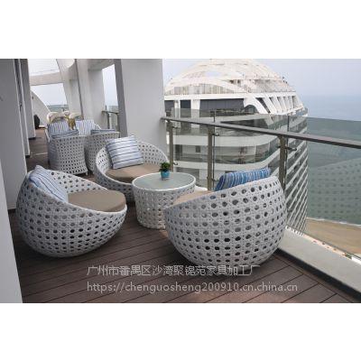 双月湾厂家特价PE仿藤户外桌椅 组合仿藤沙发
