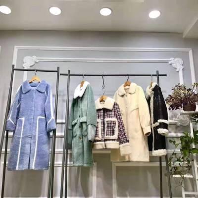 专柜女装颗粒绒是什么面料品牌女装冬装尾货批发尾货供应链