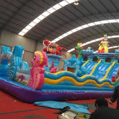河北秦皇岛充气大滑梯订做 大型充气玩具滑梯