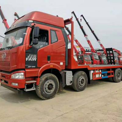 大运170平板运输车/前四后四平板车生产厂家
