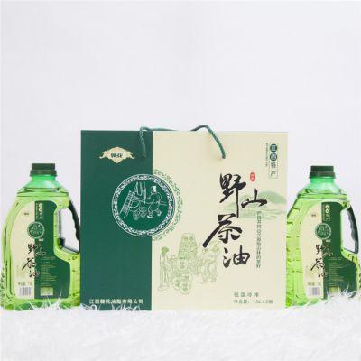 江西野山茶油3L高档礼盒装纯茶油食用油物理压榨茶籽油天然植物油木子油