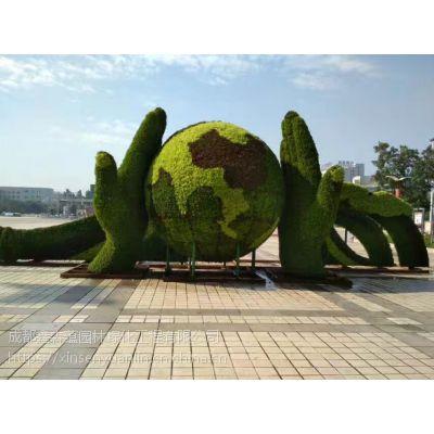 仿真植物售楼部摆放的景观精品绿雕造型,成都厂家