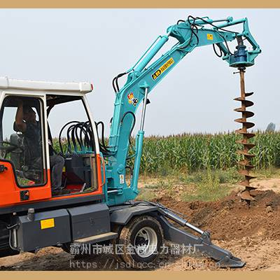 装载机改装水泥杆挖坑机,涞源县电线杆打洞机,线杆钻孔机供应厂家