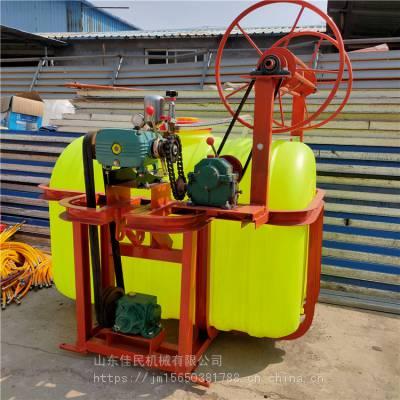 佳民 四轮拖拉机悬挂式轴传动打药机 自动卷管麦地打药机 背负式喷药机