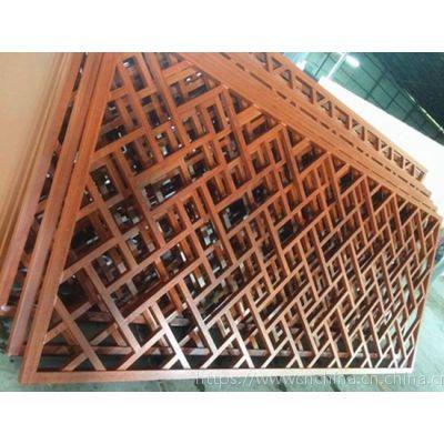 型材镂空隔断屏风设计厂家,影视城仿古铝质窗花定制