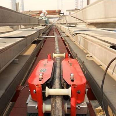 山东潍坊 电缆输送机价格 电力输送机 管道送缆机