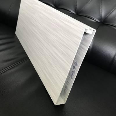 30X200型材铝方通吊顶 木纹凹槽铝方管