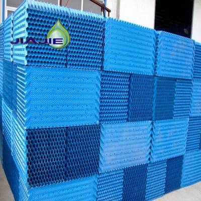 PVC冷却塔填料蓝色方形S波纹填料 耐高温冷却塔填料厂家