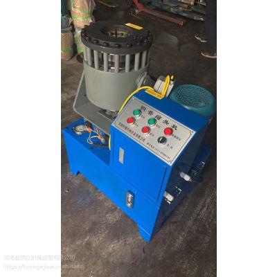 液压钢管缩管机 大棚管缩管机 建筑脚手架钢管缩管机 钢管扣压机锐众品牌