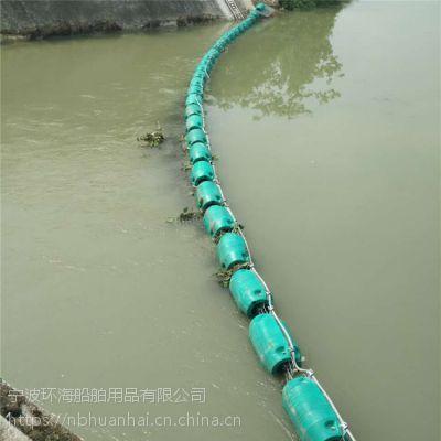 阳澄湖漂浮生活垃圾拦污漂施工安装