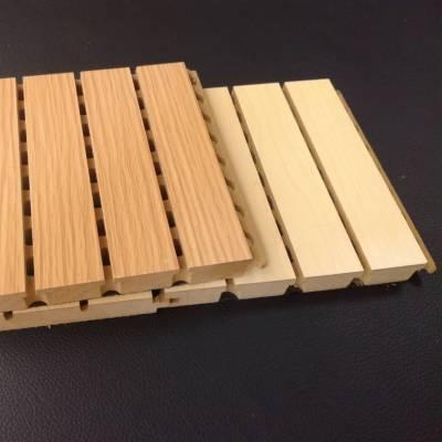 专业生产大礼堂室内防火松木木质吸音板厂家