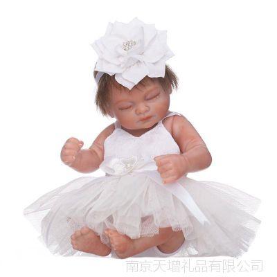 迷你手掌小娃娃 可爱全胶入水洗澡娃娃 创意个性摆件 摄影道具