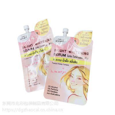 5ML10ML化妆品试用装小吸嘴袋定做工厂磨砂 乳液沐浴露旅行铝箔包装袋子