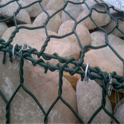 边坡防护石笼网 河道防洪格宾网 镀锌包塑石笼网围栏