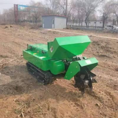 柴油自走田园管理机 小型履带式旋耕开沟机 山区能爬坡的拖拉机 果园除草机35马力