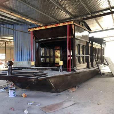 陕西咸阳木船厂家定制2米南湖红船